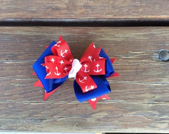 Red and Blue Anchor Bow