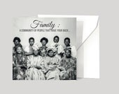 African Greeting Cards |Gift Cards| Vintage Inspired African Picture Cards| Black Cards| African British | African American | For A Friend