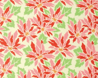 Ginger Snap by Heather Bailey for Free Spirit - Poinsettia - Cream - 1/2 yard cotton quilt fabric 516