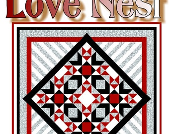 LOVE NEST - Quilt-Addicts Patchwork Quilt Pattern