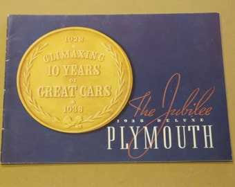 1938 Deluxe Plymouth Catalog,The Jubilee-10  Year Anniversary