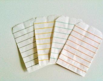 Set 20 favor bags, stripe pattern