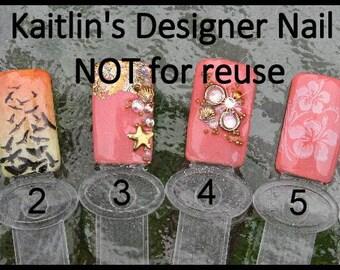 Beach Collection Gel Artificial Nail Art