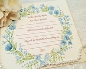 Personalized Bridal Wish Cards-Wishes for the Bride and Groom Cards Tags-Set of 12