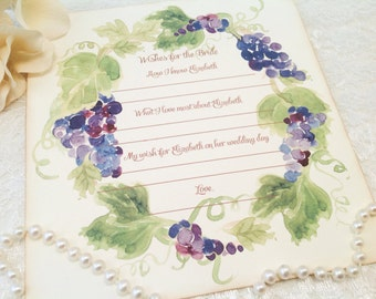 Grapevine Wreath Cards-Personalized Wish and Advice Cards-Set of 12