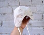 Organic  baby boy cap, hat ,oatmel Summer or spring autumn Hat, cap for the boy