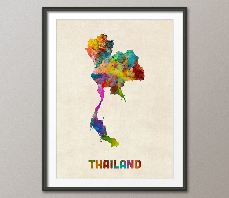 Crib for sale in thailand - Thailand Watercolor Map Art Print 2023