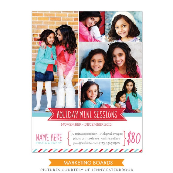 INSTANT DOWNLOAD - Photography Marketing board - Newsletter  template - E497-6