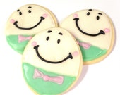 Sugar Cookie Favors Decorated Sugar Cookie Humpty Dumpty Iced Cookie Pastel Nursery Rhyme Baby Shower Birthday Story Book Theme
