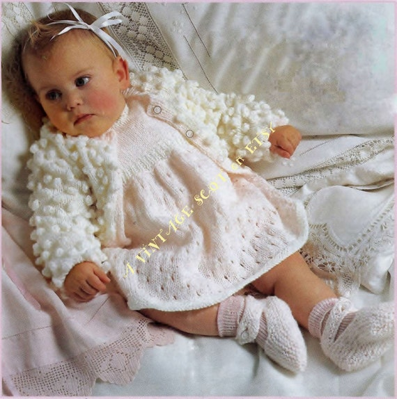 5be62d7b6 Baby   Toddler Dress Cardigan and Shoes in DK 8ply Light Worsted ...