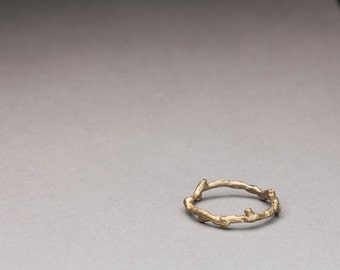 14kt Gold Twig Ring