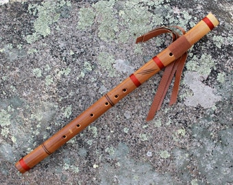 Native American Style Flute - Fire Treated Bamboo