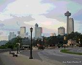 Niagara Parkway, 8x10 Photograph, all sizes available, Niagara Falls Canada, Niagara Falls Photos, Skyline Photography, Travel Photos