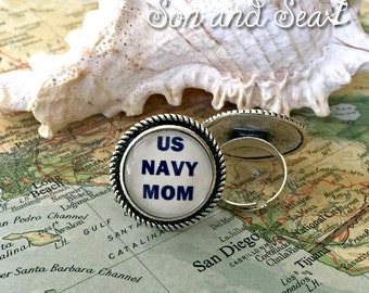 US Navy mom ring by Son and Sea free us shipping