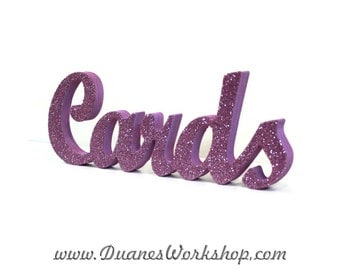 Wooden Cards Wedding sign, Gold and Silver Glitter, Wedding Decor, Wedding,