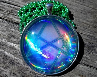 The Seal of Orichalcos HOLO Rare Pendant Charm made from Trading Cards