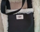UGG Sheepskin, Suede and Leather Bag Pocketbook/Handbag/Purse