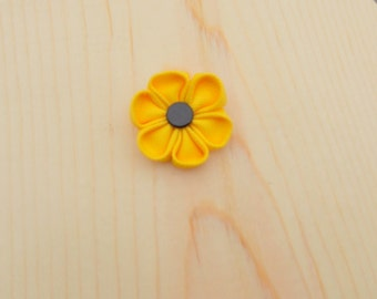 Clearance: The New Yorker-Yellow  Lapel Flower//Grosgrain Lapel Flower//Wedding//Boutonniere//Lapel Pin