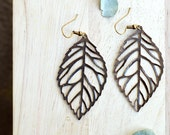 Copper Leaf Earrings, Large Leaves, Leaf Jewelry, Lightweight Earrings, Nature Jewelry C112