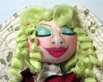 Bouncing Curls, Fairy Faery Cloth Art Doll