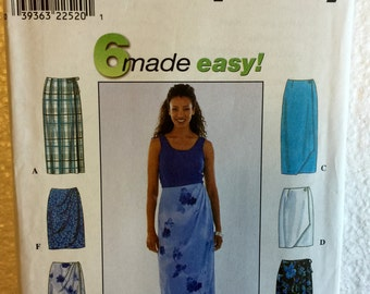 Simplicity Misses Straight Skirt with Side Ties Sewing Pattern 8527 UC Uncut FF Size  6 8 10