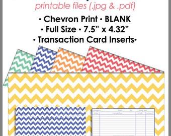 CHEVRON Printable Blank Cash Envelope Budgeting System, Money Budget Envelopes, Cash Organizer - Set of 5, Instant Download - PB1518