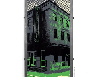 Heavy Seas Brewing Company Framed Silkscreen Print, Baltimore, MD