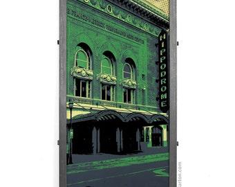Hippodrome Theater Arches Framed Silkscreen Print, Baltimore, MD