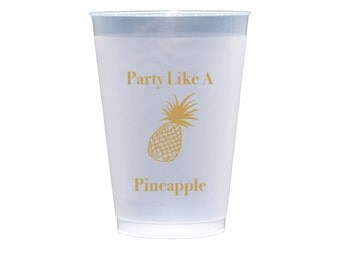 50 Pineapple Party Cups - Party Like a Pineapple - Plastic Party Cups (1011)