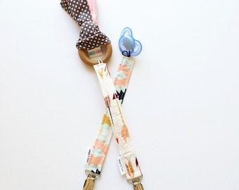 Fletching Arrows Pacifier Clip,  Modern Pacifier Clip, Pacifier Clip, Universal Paci Clip, Paci Clips