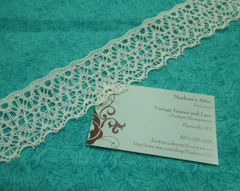 1 yard of 1 3/4 inch white lace trim for bridal, baby, housewares, sewing, crafts by MarlenesAttic - Item 2E