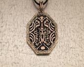 Thor Necklace, Face of Thor, Thor Mjolnir Hammer, Viking Necklace, Thor Norse God, God of Thunder Necklace