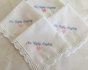 No Ugly Crying handkerchiefs set of 4