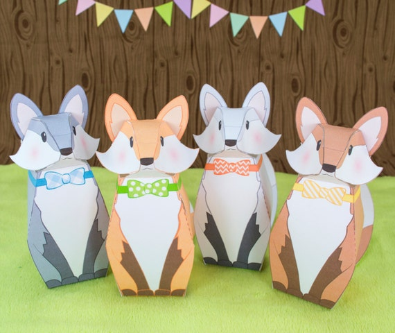 Baby Shower Favors Vancouver Bc ~ Diy fox favor boxes woodland party by littleluxuriesloft