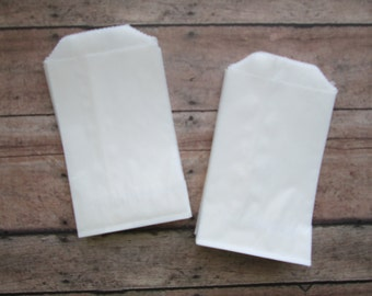 "50 Glassine Bags- Glassine Bags, 2.75 x 4.25"" DIY Weddings, Favor Bags, Favors, Wedding Favor DIY, Shower favors DIY"