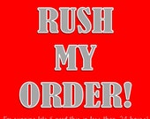 RUSH my ORDER - I need to recieve it in 24 hours or less