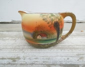 Hand Painted Nippon Pitcher or Creamer Scenic
