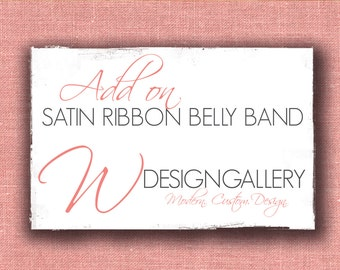 Satin Ribbon Belly Band