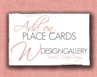 Add On matching Flat Place Cards (3x1.5)