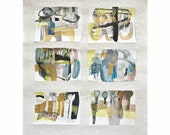 original abstract painting mixed media 14 x 18 inch