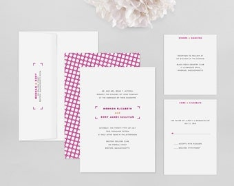 Wedding Invitation Modern Sample - Archetype - Wedding Invitation, Modern Wedding Invitation, Modern Wedding Invitations, Wedding Invites