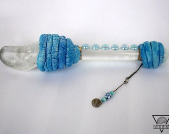 Sea Witch wand - Magic Wand Witchcraft Wicca Paganism Sea Blue Witch Druidry