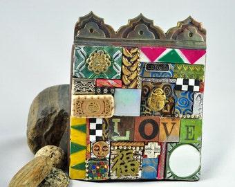 40% OFF Sale! LOVE, LAUGH Mosaic Plaque