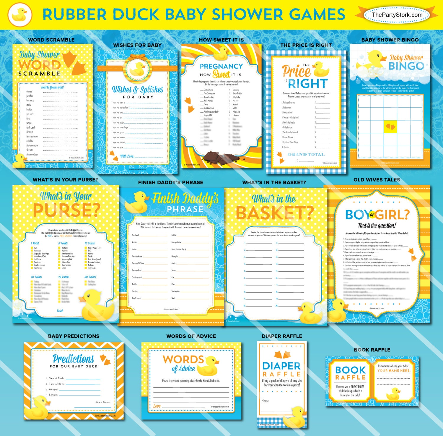 Baby Shower Games: Rubber Duck Baby Shower Games Baby Shower Games For Girl Or