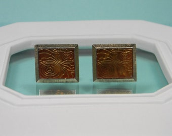 70s Abstract Modern Cuff Links, Vintage Menswear, Retro