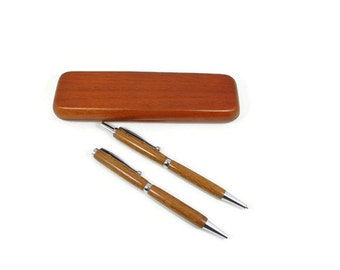Lace Wood Pen and Pencil Set With Chrome Hardware. Hand Made Wood Pen. Personalized Gift. Custom Engraving Available! Birthday & Christmas