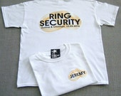 RING SECURITY (back design) Personalized Ring Bearer Wedding Rings T-Shirt