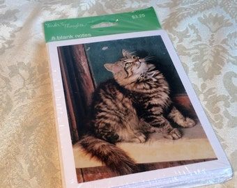 Long Haired Cat Blank Note Cards and Envelopes by Tender Thoughts