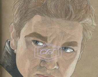 Hawkeye, Clint Barton Jeremy Renner Drawing
