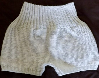 Hand knit adult wool diaper cover - Adult wool soaker - Natural diaper cover - Adult wool pants - Wool Cover - Adult soaker - Wool panties
